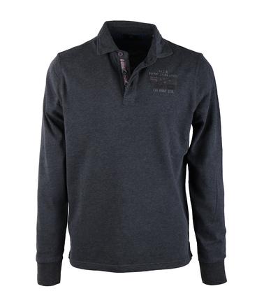 NZA Longsleeve Poloshirt Antraciet 16KN208