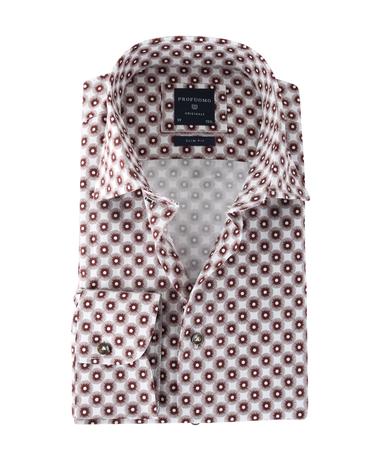 Profuomo Shirt Print Bruin