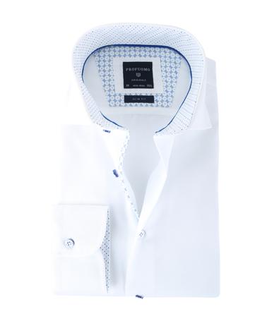 Profuomo Shirt Wit Cutaway
