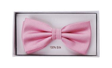 Silk Bow Tie Pink F03 photo 1