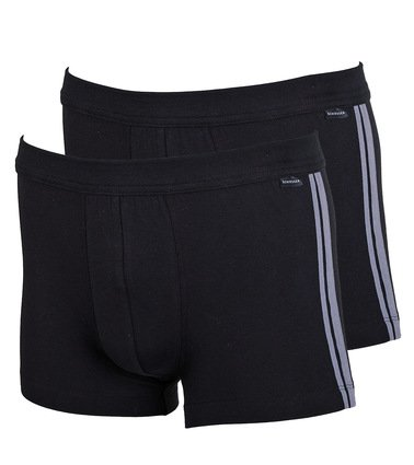 Schiesser Shorts Black Stripe (2Pack) Foto 0