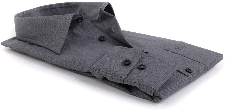 Detail Seidensticker Overhemd Regular Fit Antraciet