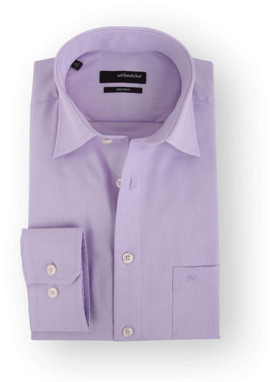 Detail Seidensticker Overhemd Regular Fit Lila