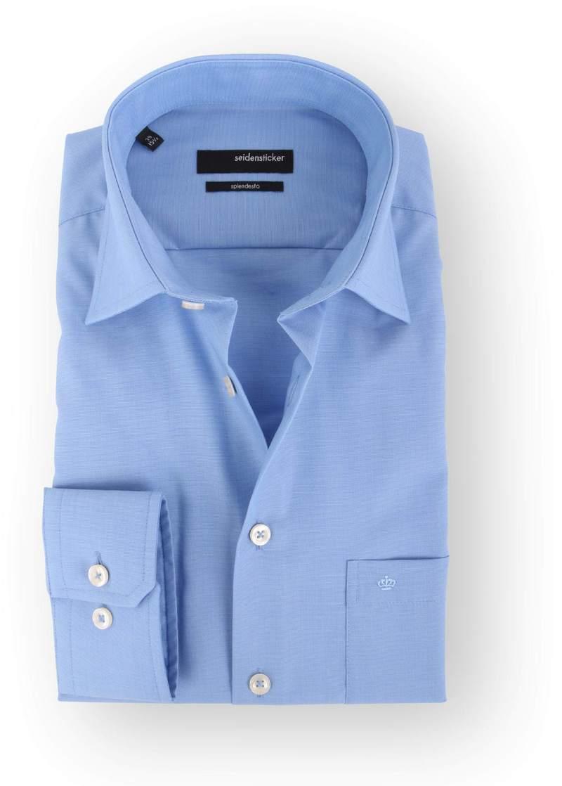 Seidensticker Splendesto Overhemd Blauw