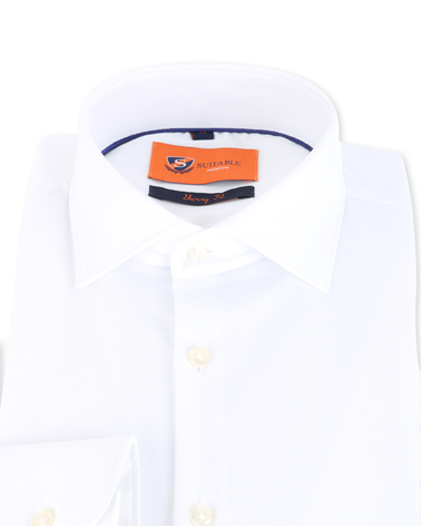 Detail Skinny Fit Overhemd Wit 132-2