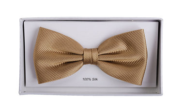 Silk Bow Tie Beige F54 photo 1