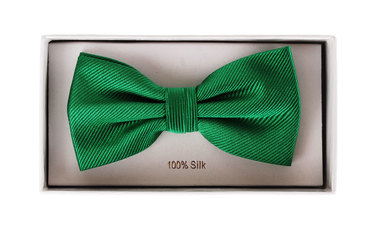 Silk Bow Tie Smaragd Green F68 photo 1