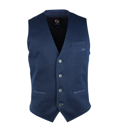 Suitable Gilet Indigo Dessin
