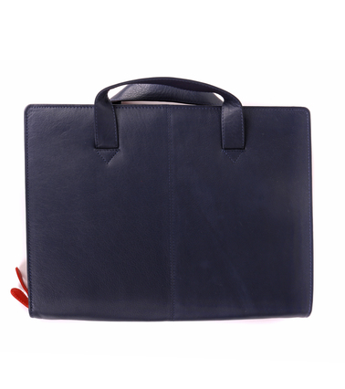 Suitable Leather Laptop Bag 13 Inch Dark Blue photo 1