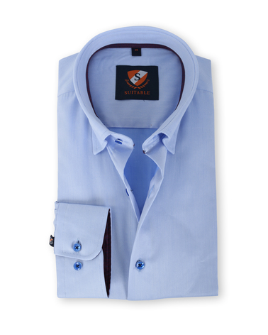 Suitable Overhemd Blauw 133-2