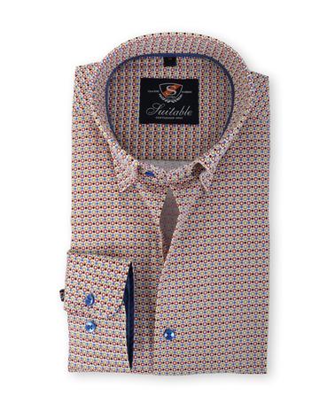 Suitable Overhemd Bruin Print 133-7