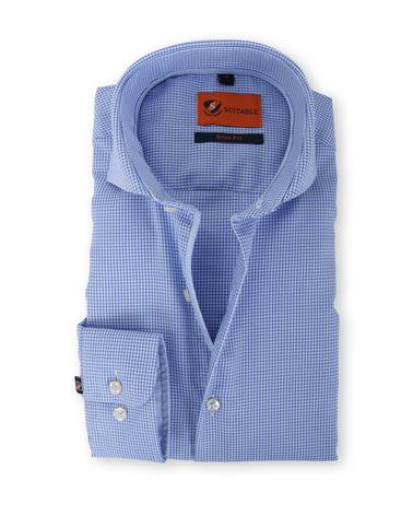 Suitable Overhemd Strijkvrij Blauw 135-3