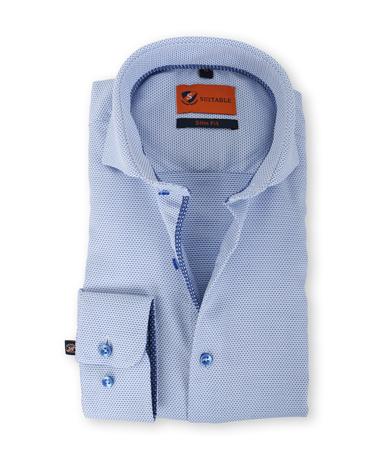 Suitable Overhemd Strijkvrij Blauw 135-5