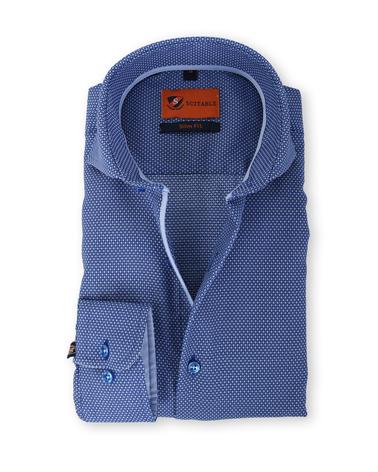 Suitable Overhemd Strijkvrij Blauw 135-6