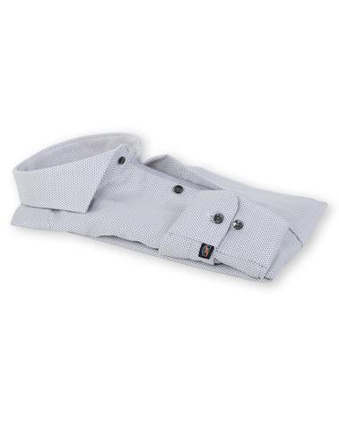 Detail Suitable Overhemd Strijkvrij Grijs 135-4