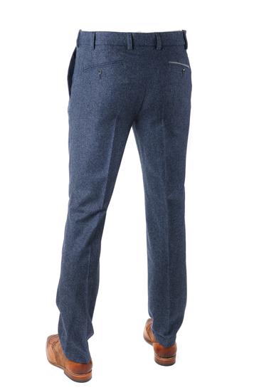 Detail Suitable Pantalon Twill Donkerblauw