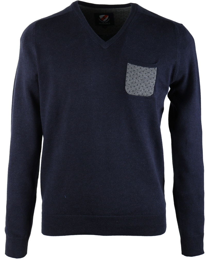 Suitable Pullover Pocket Navy