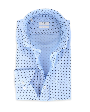 Van Gils Shirt Tailor Fit Blauw Pinpoint