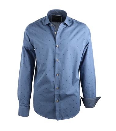Vanguard Overhemd Paperbark Blauw