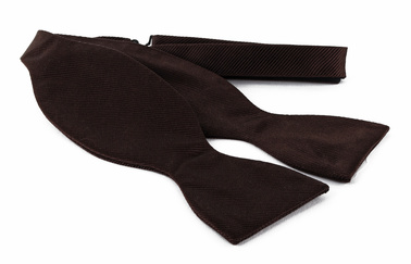 Self Tie Bow Tie Brown F45