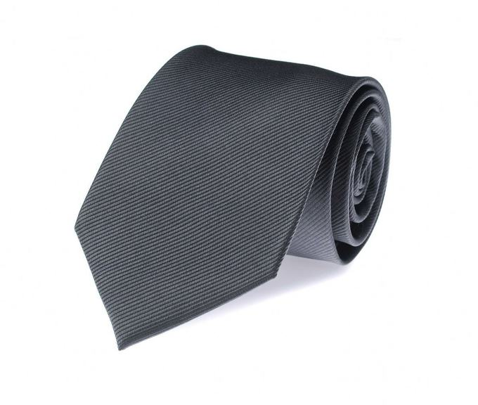Silk Tie Dark Grey F53