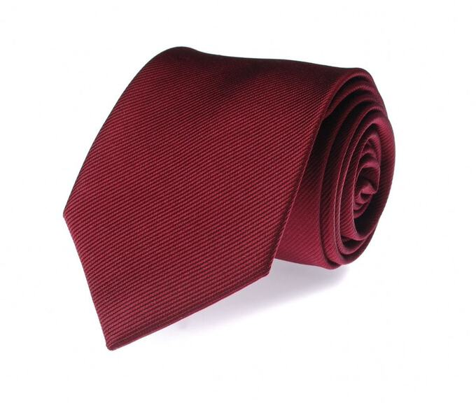 Krawatte Bordeaux Seide Uni F31
