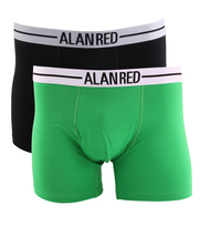 Alan Red Boxershort Groen 2Pack