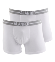 Alan Red Boxershort Weiß 2er-Pack