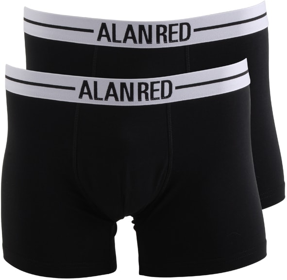 Alan Red Boxer Shirts Black 2-Pack