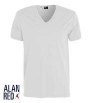 Alan Red Verner T-shirt Diepe V-Hals Wit (1Pack)