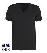 Alan Red T-Shirt Deep-V Zwart Verner