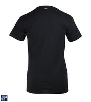 Detail Alan Red T-Shirt Extra Diepe V-Hals Zwart