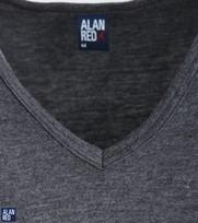 Detail Alan Red T-Shirt V-Hals Vermont Antraciet (1pack)