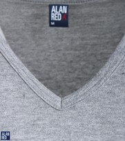 Detail Alan Red T-Shirt V-Hals Vermont Mouse (1pack)