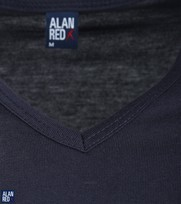 Detail Alan Red T-Shirt V-Hals Vermont Navy (1pack)
