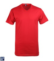 Alan Red T-Shirt V-Hals Vermont Stone Red (1pack)