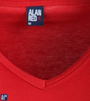 Detail Alan Red T-Shirt V-Hals Vermont Stone Red (1pack)