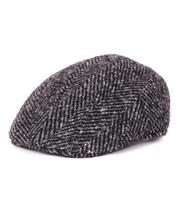 Antraciet Flat Hat Wol