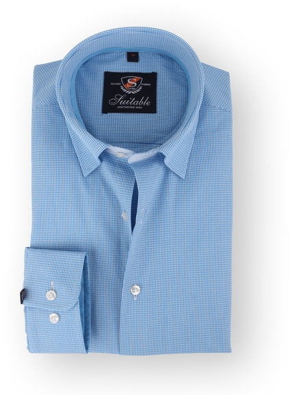Aqua Shirt Checkered 108-7