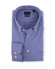 Arrow Overhemd Regular Fit Blauwe Ruit