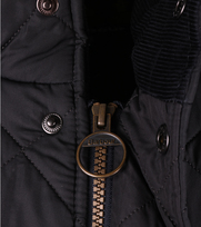 Detail Barbour Chelsea Sportsquilt Jacket Navy