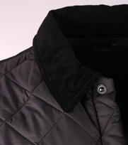 Detail Barbour Heritage Liddesdale Quilt Charcoal