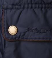 Detail Barbour Jas Donkerblauw Chukka