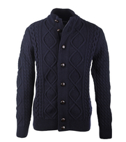Barbour Vest Kirktown Button Navy