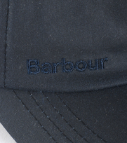Detail Barbour Wax Pet Donkerblauw