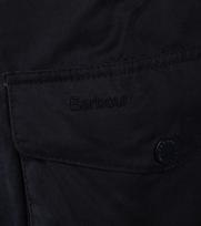 Detail Barbour Waxjas Ogston Donkerblauw
