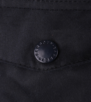 Detail Barbour Waxjas Ogston Donkerblauw