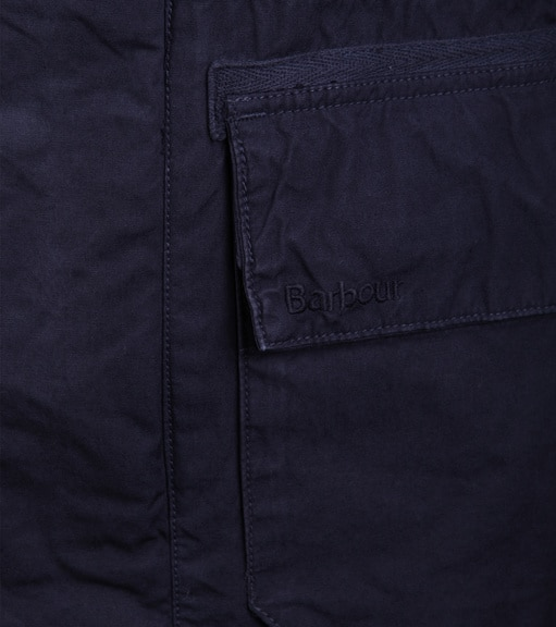 Detail Barbour Zomerjas Rig Donkerblauw