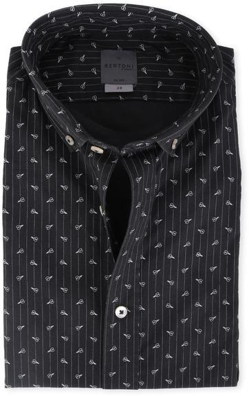 Bertoni Overhemd Malte Zwart