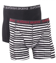 Bjorn Borg Boxer 2-pack Black Stripe